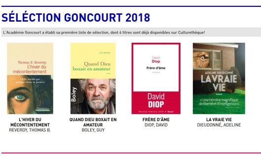 Séléction Goncourt 2018